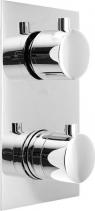 Sapho KIMURA podomítková sprchová termostatická baterie, 3 výstupy, chrom KU392
