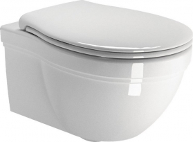 GSI CLASSIC závěsná WC mísa, 37x55 cm, bílá ExtraGlaze 871211