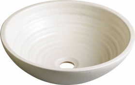 Sapho ATTILA keramické umyvadlo, průměr 42, 5 cm, slonová kost DK005