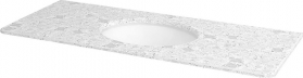 Sapho WESTERN deska technický mramor 119x2x51cm vč. keramického um. TP211, 1219 Calacatta WR121-1219