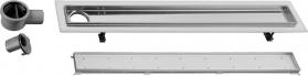 Sapho FLOW 87 nerezový sprchový kanálek s roštem pro dlažbu, 870x150x82 mm FP228