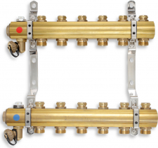 Novaservis Rozdělovač s regulačními a mechanickými ventily 2 okruhy RO02S