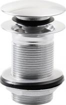 Silfra Uzavíratelná kulatá výpust pro umyvadla bez přepadu Click Clack, V 10-50mm, chrom UD45051