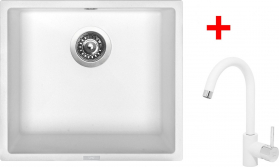 Granitový dřez Sinks FRAME 457 Milk+MIX 35 GR ACRF457M3528