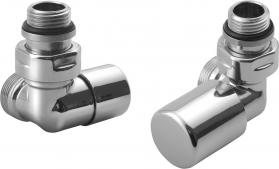 Aqualine FIRST CORNER připojovací sada ventilů, chrom CP920