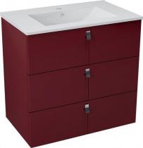 Sapho MITRA umyvadlová skříňka, 3 zásuvky, 74, 5x70x45, 2 cm, bordó MT083