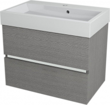 Sapho LARGO umyvadlová skříňka 69x50x41cm, dub stříbrný LA700