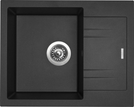 Granitový dřez Sinks LINEA 600 N Metalblack SIGLI600480N74