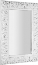 Sapho ZEEGRAS zrcadlo v rámu, 70x100cm, bílá IN421