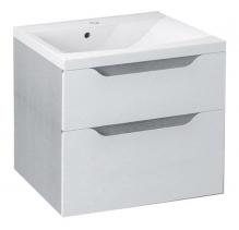 Sapho WAVE umyvadlová skříňka 60x65x47, 8cm, bílá/dub stříbrný (WA065) WA060-3011