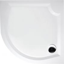 Gelco LAURA90 sprchová vanička z litého mramoru, čtvrtkruh 90x90x4cm, R500 GL509