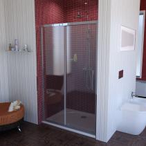 Polysan LUCIS LINE sprchové dveře 1100mm, čiré sklo DL1115