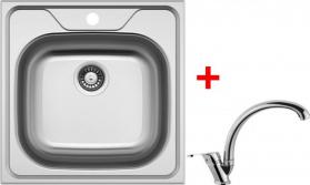 Nerezový dřez Sinks CLASSIC 480 6V+EVERA CL4806VEVCL