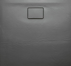 Sapho ACORA vanička z litého mramoru, čtverec 90x90x3, 5cm, šedá, dekor kámen AC022