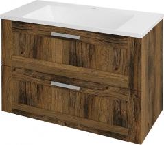 Sapho AMIA umyvadlová skříňka 89x60x45cm, dub Collingwood AM091