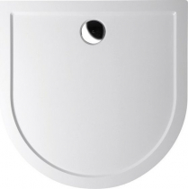 Polysan ISA 100 sprchová vanička z litého mramoru, půlkruh 100x100x4cm, bílá 72888