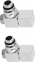 Sapho CUBE připojovací sada ventilů ruční rohová, stříbrná CP4520