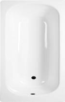 Aqualine Smaltovaná vana 105x65cm, bílá V105x65
