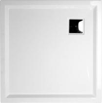 Polysan AVELIN sprchová vanička akrylátová, čtverec 90x90x4cm, bílá 54611