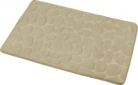 Aqualine Koupelnová předložka, 50x80 cm, 100% mikrovlákno, protiskluz, béžová KA1142