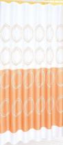 Aqualine Závěs 180x180cm, 100% polyester, bílá/oranžová 16474