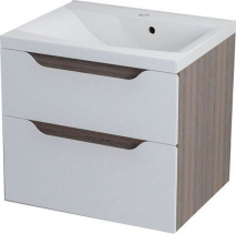 Sapho WAVE umyvadlová skříňka 60x65x47, 8cm, bílá/mali wenge WA063