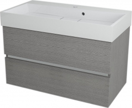 Sapho LARGO umyvadlová skříňka 89x50x45cm, dub stříbrný LA900