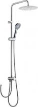 Sapho Sprchový sloup k napojení na baterii, pevná SLIM a ruční sprcha, kulatý, chrom 1202-11