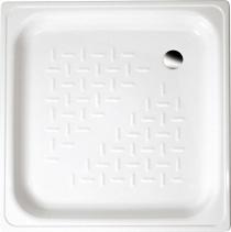 Aqualine Smaltovaná sprchová vanička, čtverec 80x80x16cm, bílá PD80X80