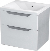 Sapho WAVE umyvadlová skříňka 60x65x47, 8cm, bílá/dub stříbrný WA065