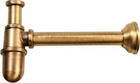 Reitano Rubinetteria RETRO umyvadlový sifon 1'1/4, odpad 32 mm, bronz 9596