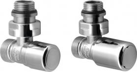 Aqualine FIRST připojovací sada ventilů ruční rohová, chrom CP910