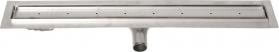 Gelco MANUS PIASTRA nerezový sprchový kanálek s roštem pro dlažbu, 750x130x55 mm GMP83