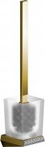 Sapho SOUL CRYSTAL nástěnná WC štětka, zlato 165070