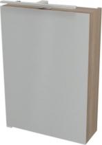 Sapho RIWA galerka s LED osvětlením, 50x70x17 cm, bezdotykový senzor, ořech bruno RW056-S