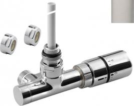 Sapho MONO ONE připojovací sada ventilů termostatická jednobodová, broušený nerez CP2550S