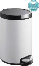 Sapho ARTISTIC odpadkový koš 5l, Soft Close, bílá DR142