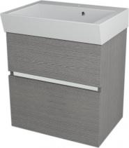 Sapho LARGO umyvadlová skříňka 59x60x41cm, dub stříbrný LA600