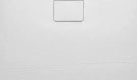 Sapho ACORA vanička z litého mramoru, čtverec 90x90x3, 5cm, bílá, dekor kámen AC002
