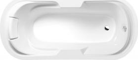 Polysan LINDA oválná vana 190x88x43cm, bílá vč. podhlavniku 22111