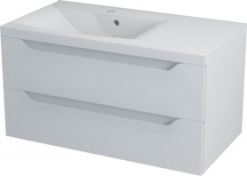 Sapho WAVE umyvadlová skříňka 89, 7x45x47, 8cm, levá, bílá WA092L
