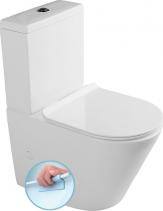 Sapho PACO RIMLESS WC kombi mísa s nádržkou včetně Slim Soft Close sedátka, sp./zadní PC1012R