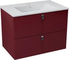 Sapho MITRA umyvadlová skříňka 74, 5x55x45, 2 cm, bordó MT073