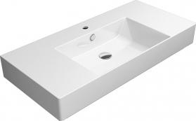 GSI KUBE X keramické umyvadlo 100x47 cm, s odkladnými plochami, bílá ExtraGlaze 9451111