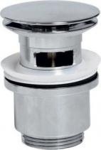 """Sapho Umyvadlová výpust 5/4"""", click-clack, velká zátka, tl.30-50mm, chrom CV1007"""