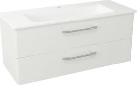 Sapho PURA umyvadlová skříňka, 2x zásuvka 117x50, 5x48, 5cm, bílá PR125