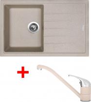 Granitový dřez Sinks BEST 780 Avena+CAPRI 4 GR ACRB780CA429