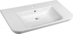 Aqualine DORI keramické umyvadlo s odkládací plochou 90x48 cm, bílá FS1H1