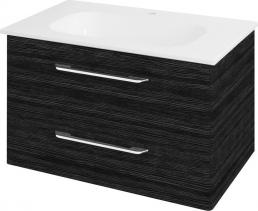 Sapho PURA umyvadlová skříňka 77x50, 5x48, 5cm, graphite line PR083