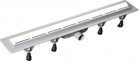 Polysan ROAD plastový sprchový kanálek s nerezovým roštem, 820x123x68 mm 71674